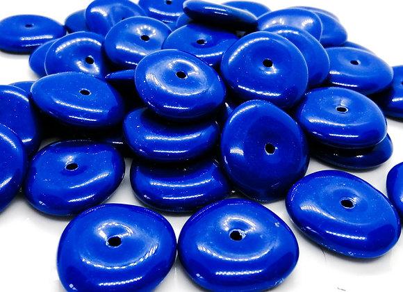 Large Disc Bead 27mm - Royal Blue