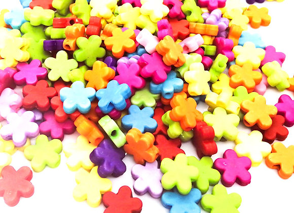 Bright Flower Bead Mix Pack of 20