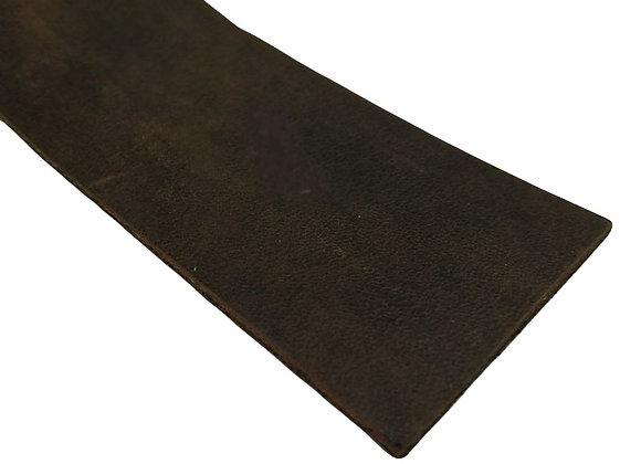 Italian Leather Strip - Natural Brown Rustic 2mm