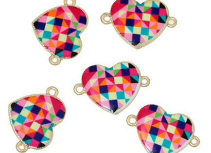 Heart Link Connector Bright Multi