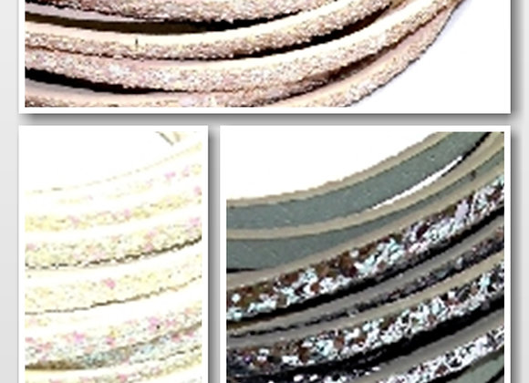 Flat Faux Glitter Leather 5mm - Choice of Colours