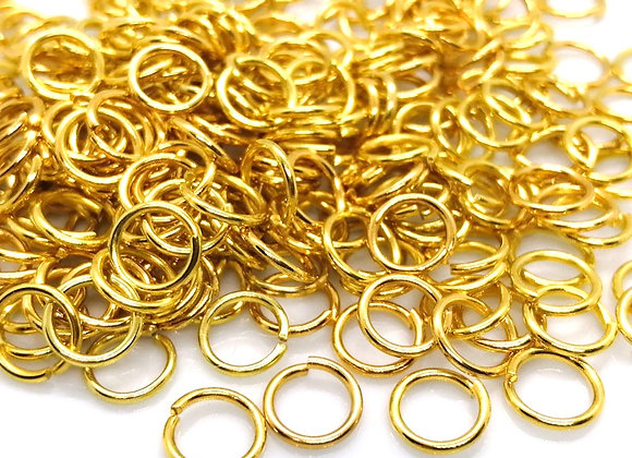 18g Gold Open Jump Ring - 8mm