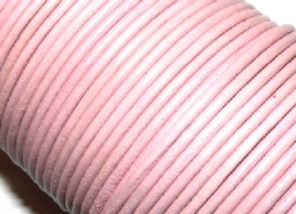 Baby Pink 2mm Round Leather