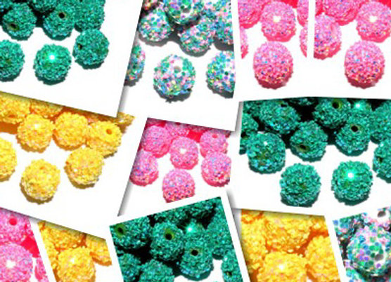 Paillette Snowflake Beads 10x12mm - Choice of Colours
