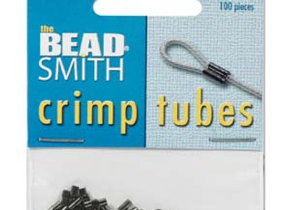 Beadsmith Black Oxide Crimp Tubes - 100pcs