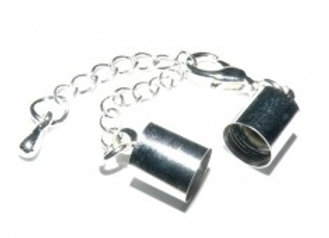 Silver Bell Closer 6mm with Clasp & Chain