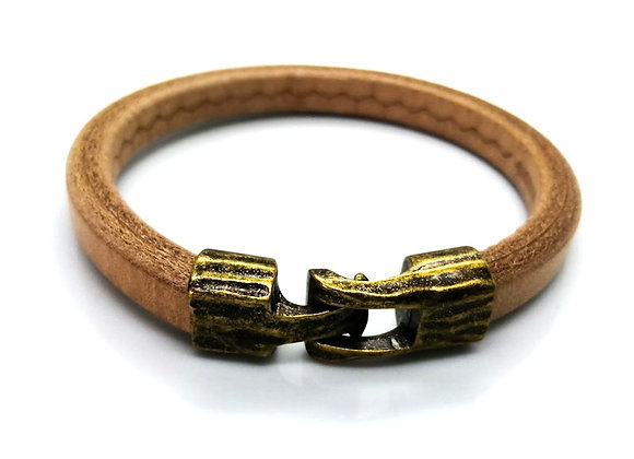 Zamak Metal Toggle Clasp for Regaliz Leather Old Gold