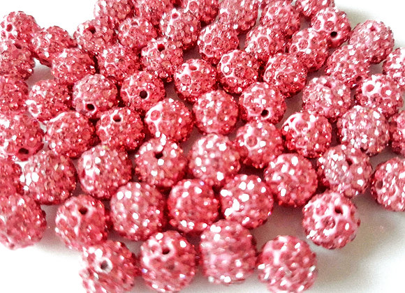 Baby Sham Rose Grade A Crystals 8mm - Pack of 10