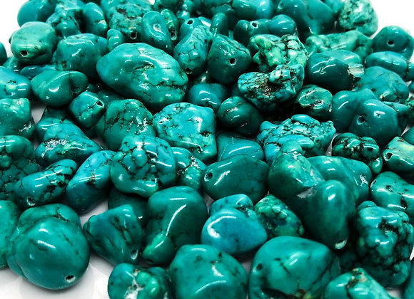 |Jewellery making turquoise nugget beads
