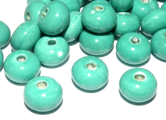 Ceramic Spacer Beads Turquoise