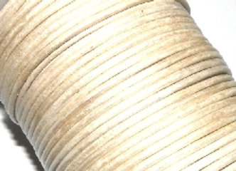 Metallic Matt Silver Round Leather 2mm