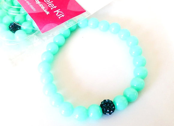Elastic Bracelet Kit - Blue Rhinestone