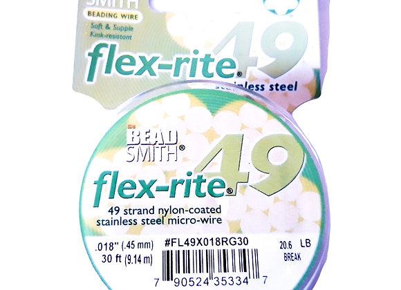 "Beadsmith flex-rite 49 Beading Wire Rose Gold .018"""