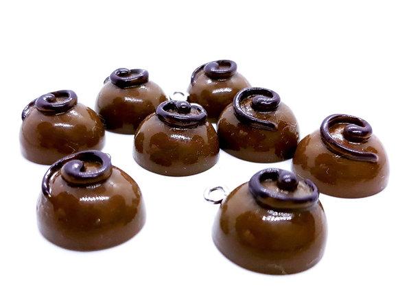 Resin Milk Chocolate Swirl Charm