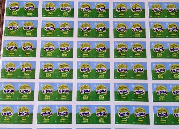 Fun Novelty Craft Stickers - Ambrosia Custard - Pack of 50