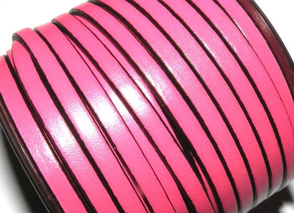 Bubblegum Pink Flat Leather 5mm