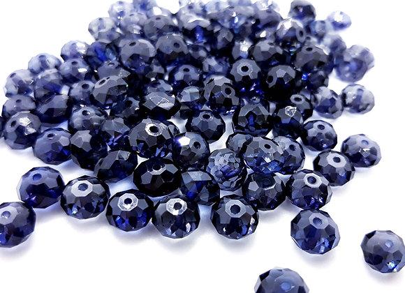 Acrylic transparent rondelle bead 8mm blue jewellery making beads uk
