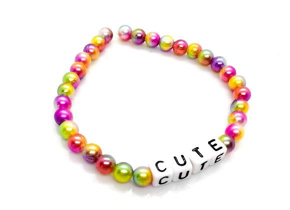 Elastic Bracelet Kit - Rainbow 'Cute'
