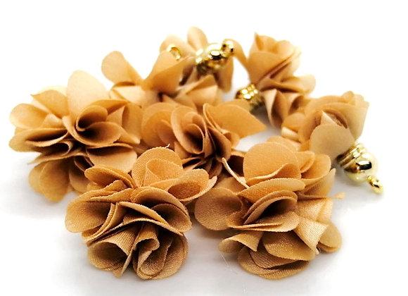 Flower Tassel Pendant - Beige Pack of 2