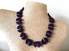 Half round wood beads