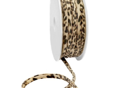 Ibiza Stretch Stitched Ribbon - Brown/Beige Panther