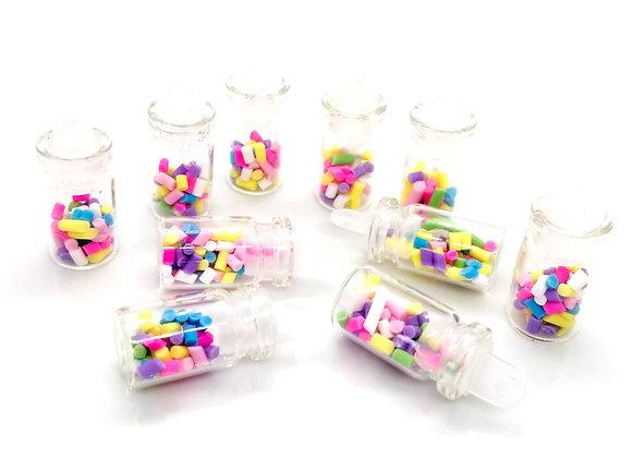 Glass & Clay Sweetie Jar Charm - Multicolour