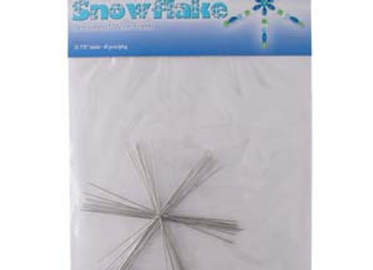 "The Beadsmith Wire Snowflake Form 3.75"" Pack of 8"