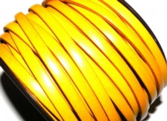 Buttercup Yellow Flat Leather 5mm