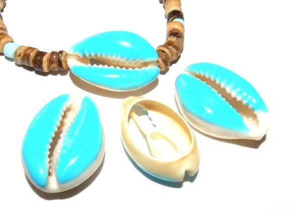 Cowrie Shell - Light Sky Blue