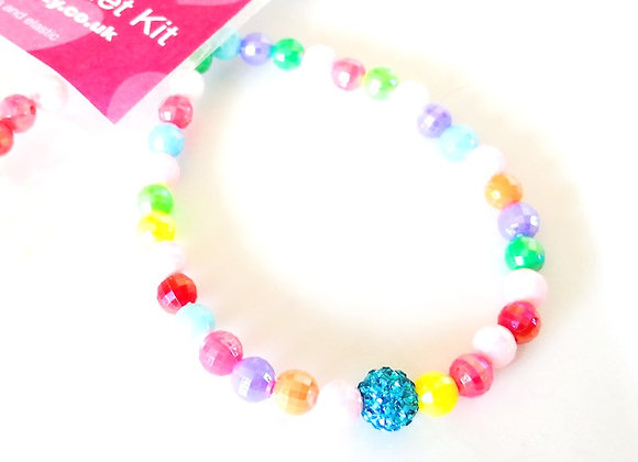 Elastic Bracelet Kit - Blue Sparkle