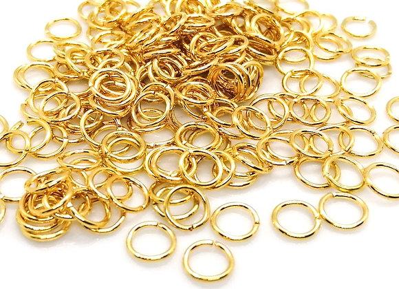 18g Gold Open Jump Ring - 7mm