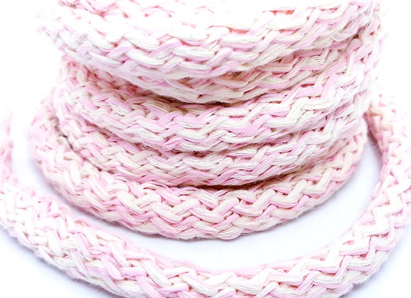 Large Knitted Round Cord - Pale Pink