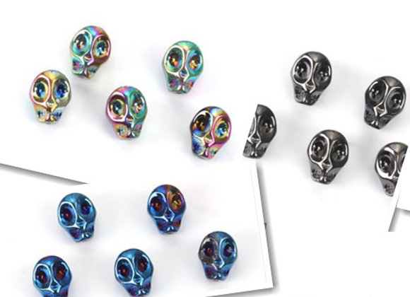 Glass Skull Beads 10mm - Choice of Colours