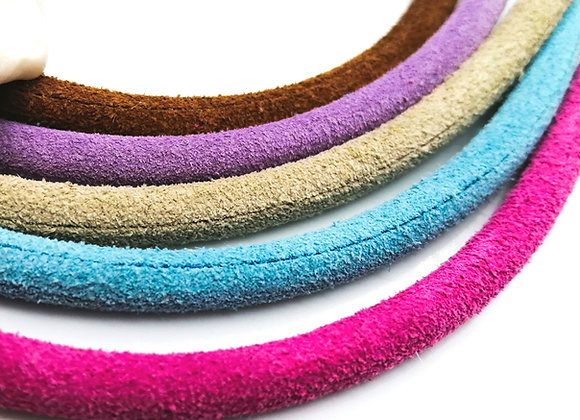 Hollow Round Leather 5mm - Choice of Colours