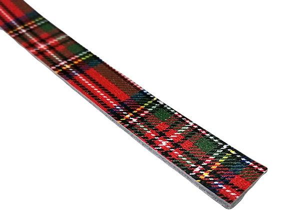 Narrow Leather Strip - Tartan
