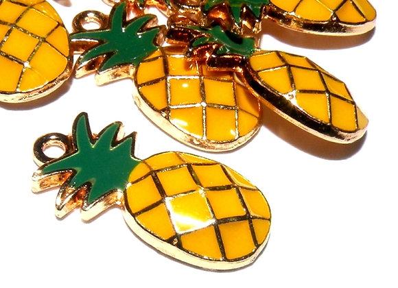 Enamelled Pineapple Charm