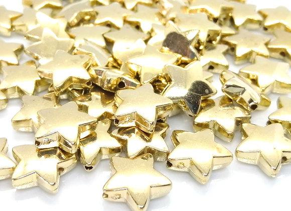 Jewellery making beads christmas beads gold star bead