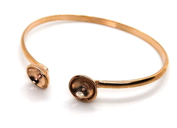 DQ metal bangle blank rose gold crystal setting swarovski