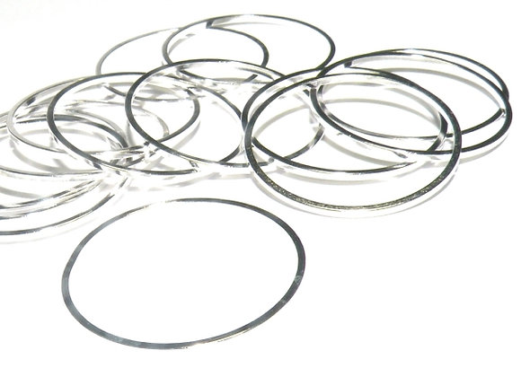 Linking Ring - Bright Silver Plated Brass Pack of 10