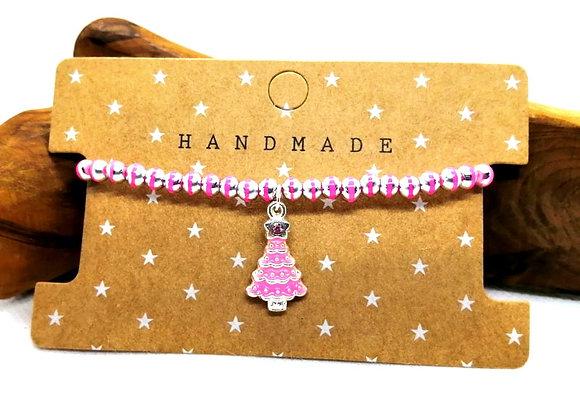 Christmas Bracelet Kit - Pinks with Tree