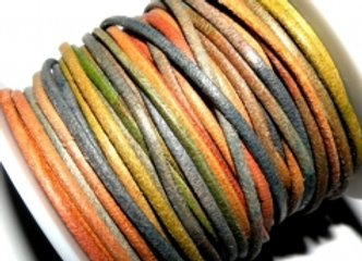 Natural Rainbow Round Leather 2mm