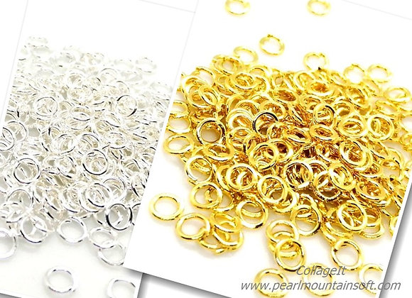 20g Open Jump Ring - 4mm Gold or Silver