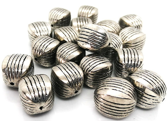 Acrylic antique silver cube bead jewellery making