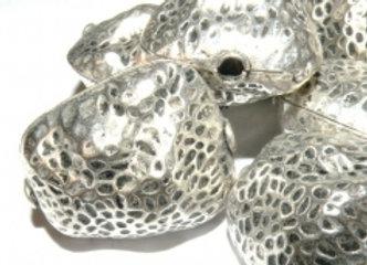 Chunky Metal Nugget Bead 32mm - Silver