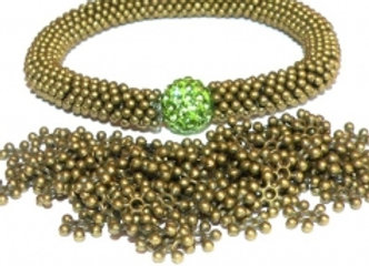 Antique Bronze Snowflake Spacer Beads Pack of 500