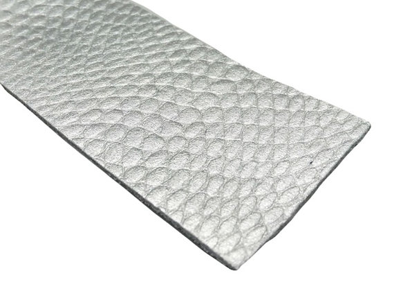 Leather Strip - Textured Metallic Silver 1.4mm