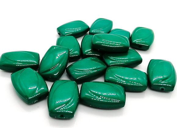 Flat rectangle acrylic bead green jewellery making beads uk