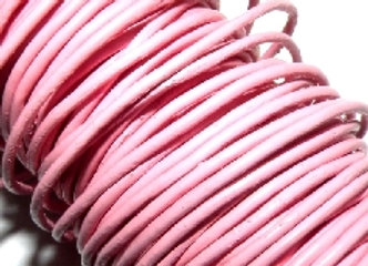 Pink Indian Round Leather 1mm