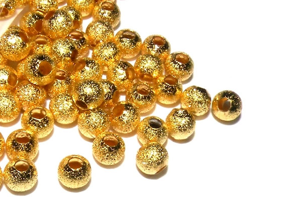 Tiny Golden Stardust Beads - 3mm