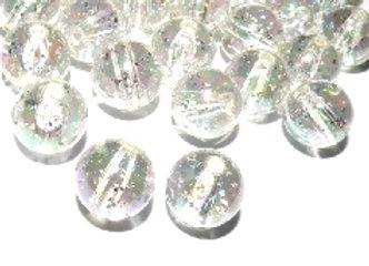 Round Beads 10mm - Crystal Glitter AB